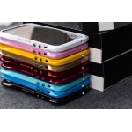 Cleave Aluminum Metal Bumper Frame with Mirror Bling Diamond LOVE MEI Case for iPhone 5 5g with retail box