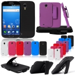 Belt Clip Holster Hard Case Cover Slider With Kick Stand for Samsung Galaxy S4 i9500